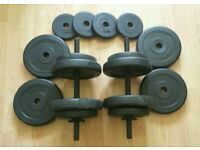 28kg Dumbbell Free Weights Set