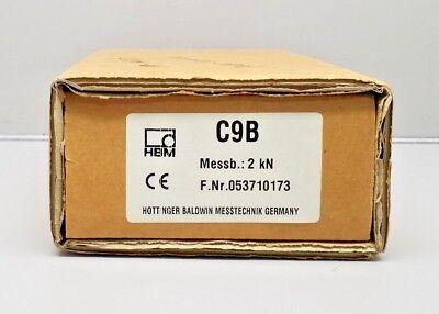NEW HBM C9B 2KN KRAFTAUFNEHMER MINIATURE FORCE SENSOR LOAD CELL FORCE TRANSDUCER - Miniature Force Sensor