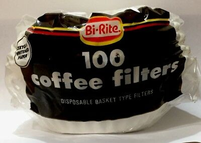 Paper Coffee Filters 100ct white disposable coffee filters basket type  Basket Filter Paper