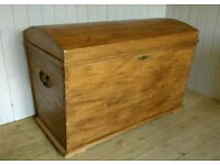 Large Antique Dome Top Chest
