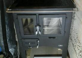 ABX Woodburner stove cooker with schott ceramic top
