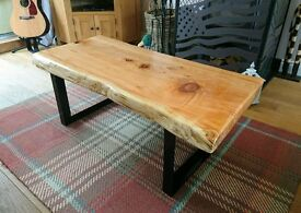 Hand made, solid timber top table.