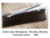 Wooden Venetian Blinds - brand new! £15 each or £40 for all four.