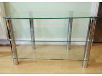 Glass tv stand £15 ono