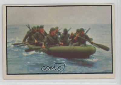 1954 Bowman Power for Peace #30 Marines Inflate Boats Fast Non-Sports Card r7z