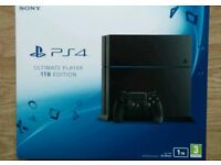 PS4 Console 1TB Ultimate Player Edition New & Sealed with 2 controllers