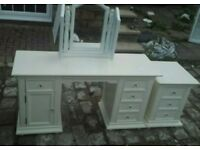 Dressing table and mirror/bedside locker
