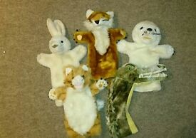 Hand puppets x5
