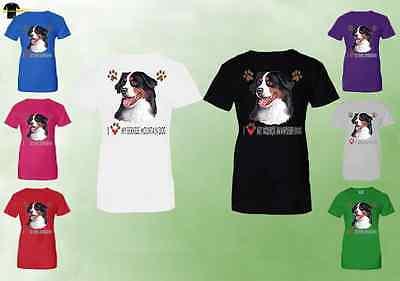 Bernese Mountain Dog Ladies T Shirt   Bernese Mountain Dog T Shirts  07137Hd4