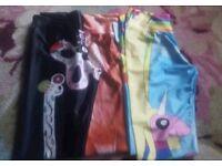 Patterened colourful full length leggings size small