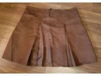 Brand New Brown Suede Effect Skirt size 14