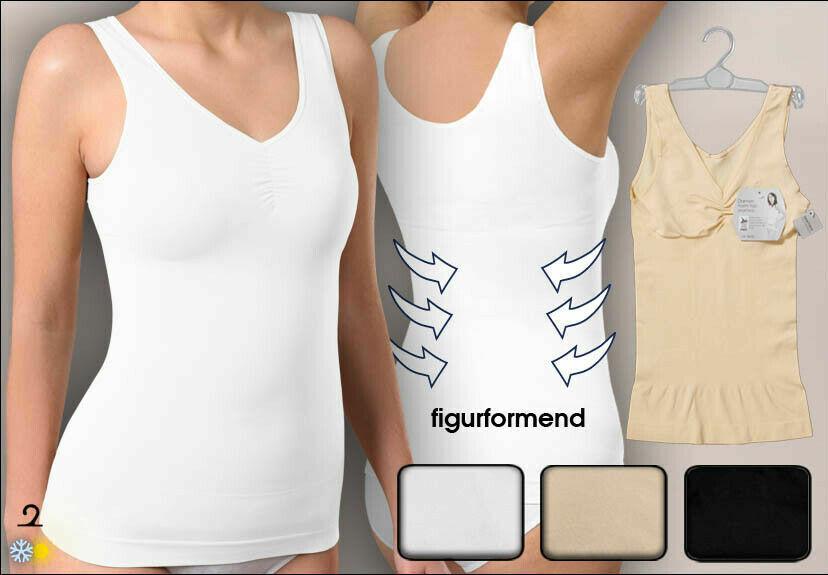 Damen Hemd Form-Hemd ,figurformend,seamless uni,formt Taille und Bauch, Gr.40/42