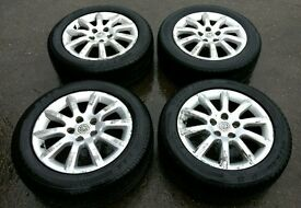VAUXHALL ASTRA ALLOYS WITH TYRES - 205/5/16