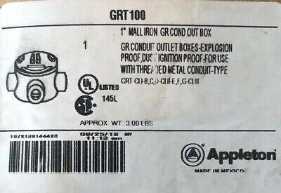 Appleton Grt100 1 Malleable Iron Grey Conduit Box