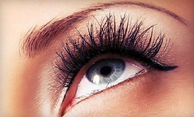 Cherry Blossom Red Cherry #80 False Eyelashes Fake Lashes Human Hair Black - Red Cherry Blossom