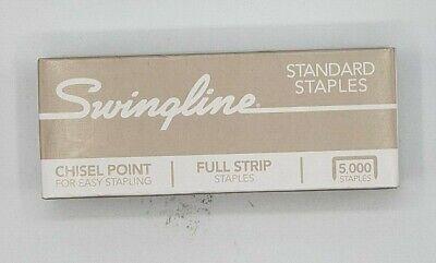 Swingline Staples For Standard Staplers 5000 Count Chisel Point Leg Length 14
