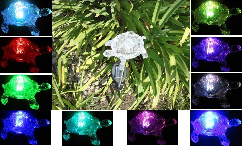 Leda Group Solar Powered Turtle Garden Yard Decor Stake Color Changing  Multi-Color LED Light at Sears.com