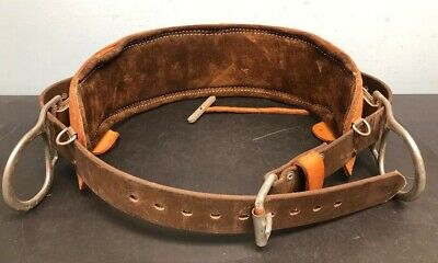 Bashlin Industries Leather Brown Utility Pole Climbing Belt No 76 Size D26