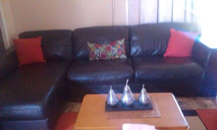 Leather chaise lounge for sale Woody Point Redcliffe Area Preview