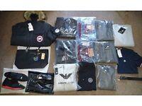 Wholesale/Joblot Mens Tracksuits, Belts, Jumpers, Shoes - Armani, Giuseppe, True Religion