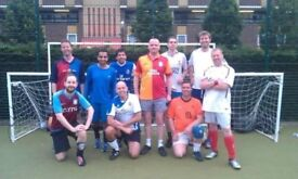 Players needed for friendly 5-a-side football game, Thursdays, up to 90 minutes game time