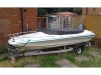 Mustang 15 foot speedboat with 55 hp mariner outboard