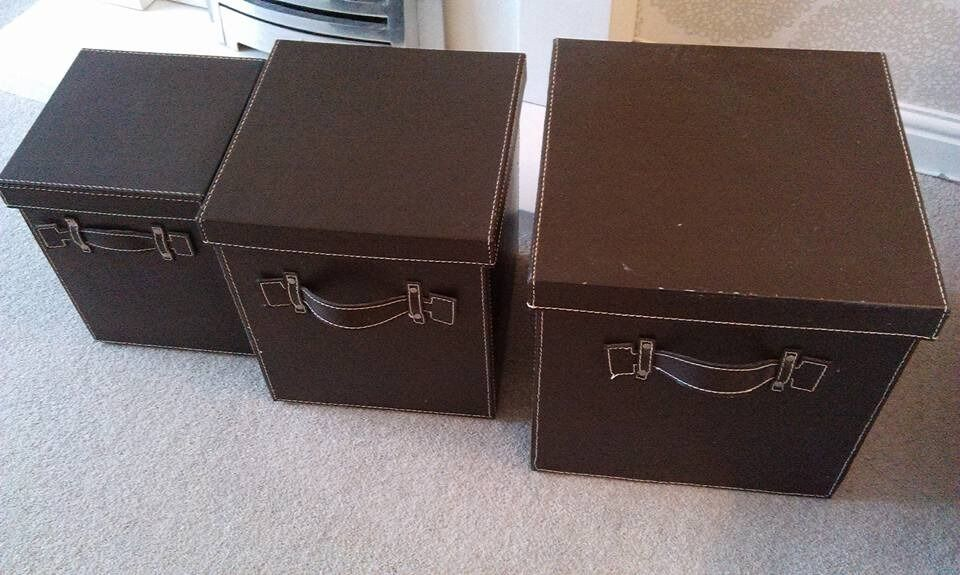 LEATHER LOOK STORAGE BOXES & LEATHER LOOK STORAGE BOXES | in Beeston Nottinghamshire | Gumtree