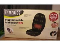 Homedics programmable massager for home or use in car with supplied adaptor