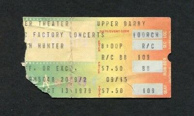 1979 Ian Hunter Mick Ronson concert ticket stub Upper Darby All The Young Dudes