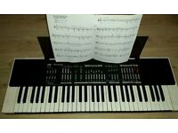 Jvc Elictriconic keyboard complete with power cable music book and carry case