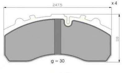 MAN TGX Diverse LKW-Modelle, Bremsbeläge Bremsbelagsatz
