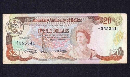 Belize  20  Dollars  1980  P-41  VF