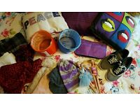 Free stuff !!!! ikea scarf hats kids heelys barbie cushions