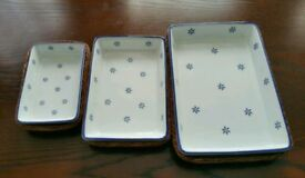 A set of serving plates