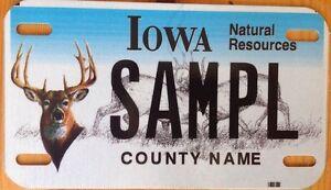 Iowa wildlife deer motorcycle license plate hunting hunt for Iowa fishing regulations