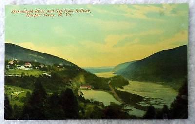 Postcard Harpers Ferry West Virginia Shenandoah River   Gap From Bolivar  29