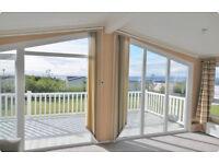 Caravan for hire. Craig Tara, Ayrshire SCOTLAND. Stunning Platinum Monaco Due Lodge (16ft wide)