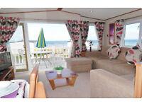 £195 *Dog Friendly* Luxury Caravan for Hire, Craig Tara, Ayrshire. Veranda, Sea Views