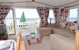 EASTER 2018 *Dog Friendly* Luxury Caravan for Hire, Craig Tara, Ayrshire. Veranda, Sea Views