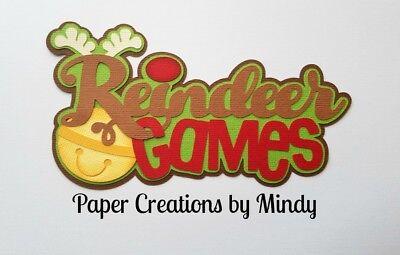 CRAFTECAFE MINDY REINDEER GAMES CHRISTMAS premade paper piecing TITLE scrapbook ()