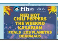 Benicassim 4 day Ticket with Camping