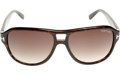 Tom Ford FT0446 TF 0446 DYLAN 52K Dark Havana / Brown Gradient Sunglasses