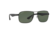 Ray Ban RB3516 006/9A 59 Black Frame Green Classic G-15 59 mm Lens Sunglasses