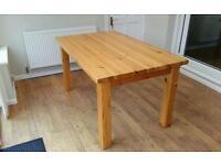 Farmhouse pine table