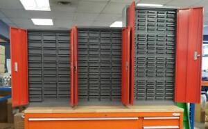 NEW METAL PARTS CABINETS PARTS BIN PART STORAGE 30 DRAWER , 48 DRAWER , 100 DRAWER METAL TOOL CABINET BENCH