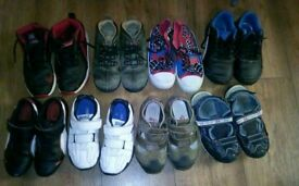 8 pairs of kids shoes sizes 11-13