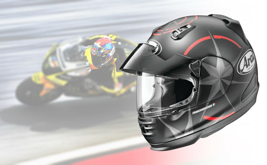 fbf483b6 ... needs of street fighter and naked bike riders but with the added  functionality of a built-in sun shade, the Arai Defiant Pro-Cruise Helmet  is aggressive ...