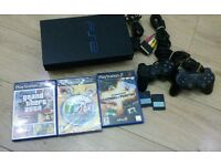 Play sataiton 2 complete console with 2memory card 2 controls and 3games