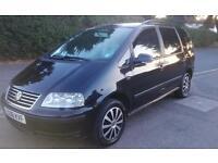 2006 vw Sharan 1.9 TDI Auto black 7 seater MPV low mileage