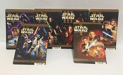 2 of Each Star Wars Saga Movie Rental Insert Cardstock Original Prequel Trilogy